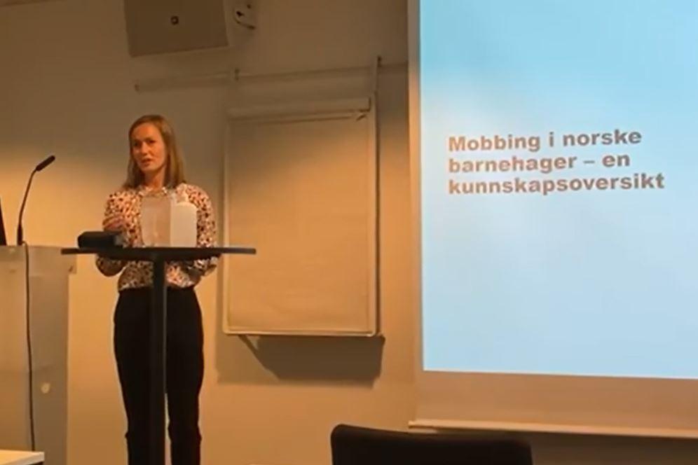 Barnehagene etterlyser mer kunnskap om mobbing – se presentasjon.